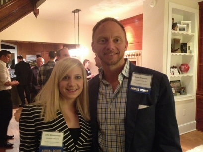 Alumni event hosts Alumni Bryan Tramont, BA '89, and  Julie Silverbrook, BA '09