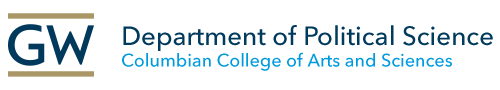 Department of Political Science; GW Columbian College of Arts & Sciences Logo