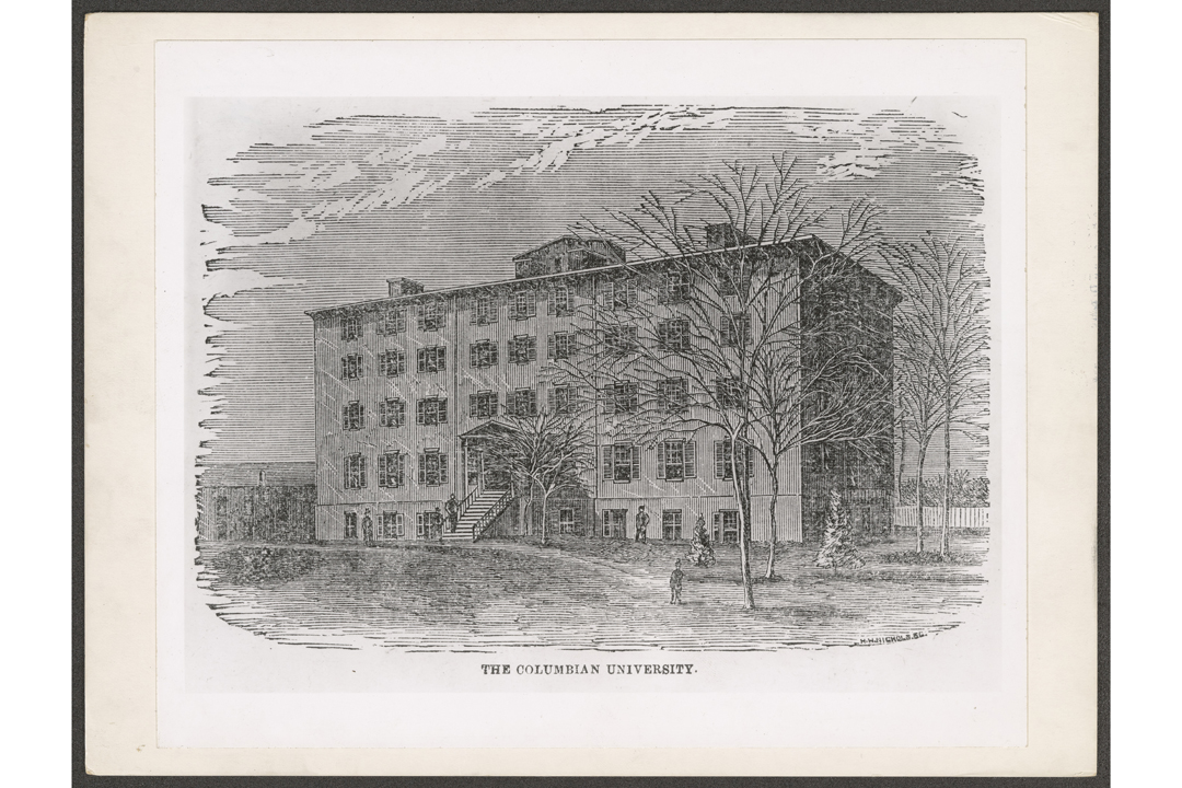 Columbian College building, 1870