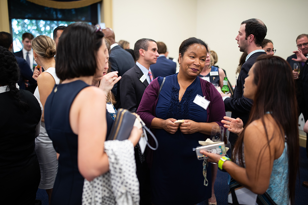 GW alumni had the opportunity to mingle and network at the reception. More than 280 alumni work on Capitol Hill.