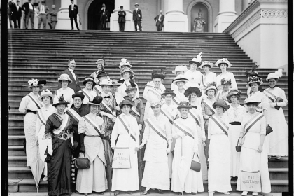 Suffragettes at the U.S. Capitol, 1914 (Photo Courtesy Library of Congress)